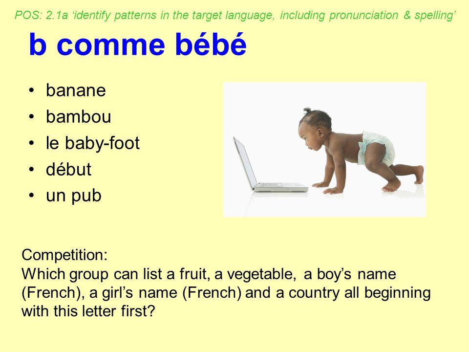 b comme bébé banane bambou le baby-foot début un pub Competition: