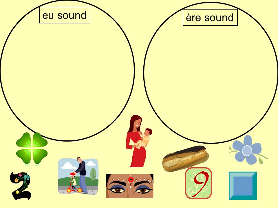 eu sound ère sound The words you are sorting are: