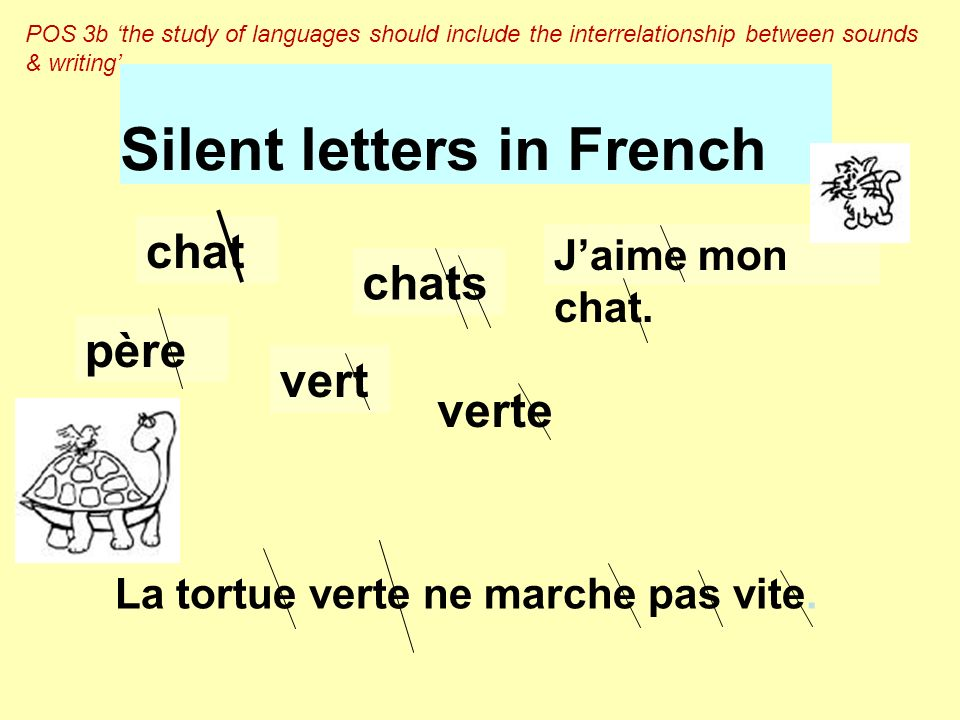 Silent letters in French