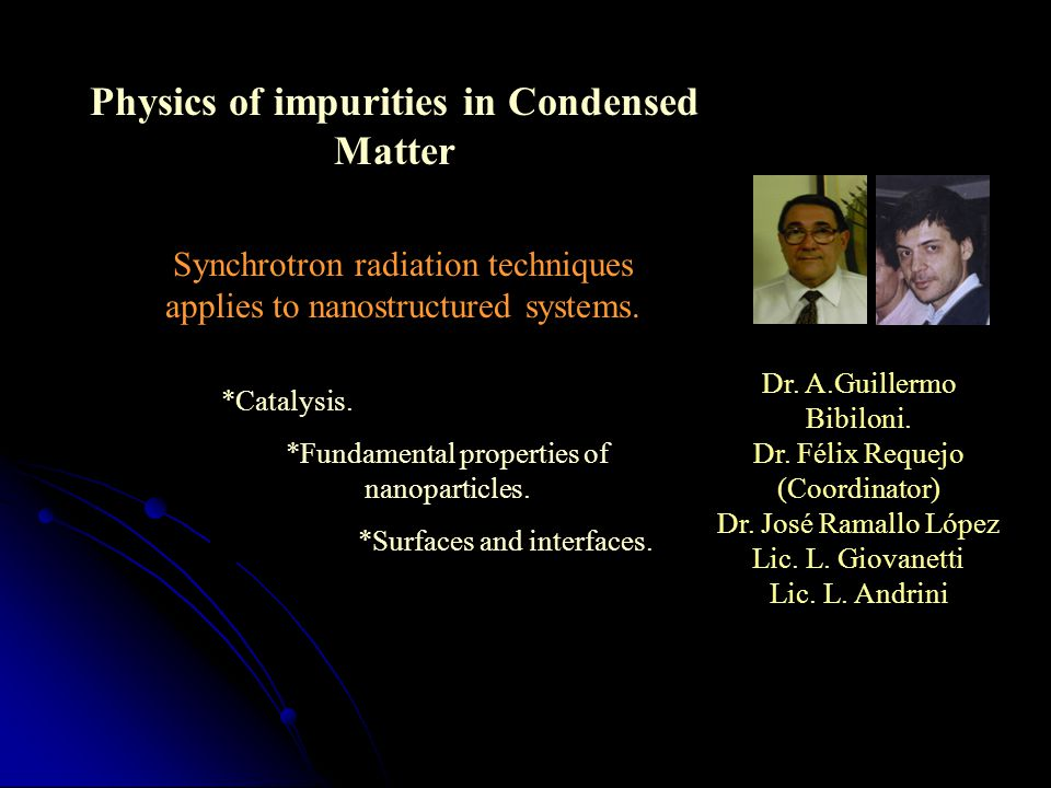 Physics of impurities in Condensed Matter