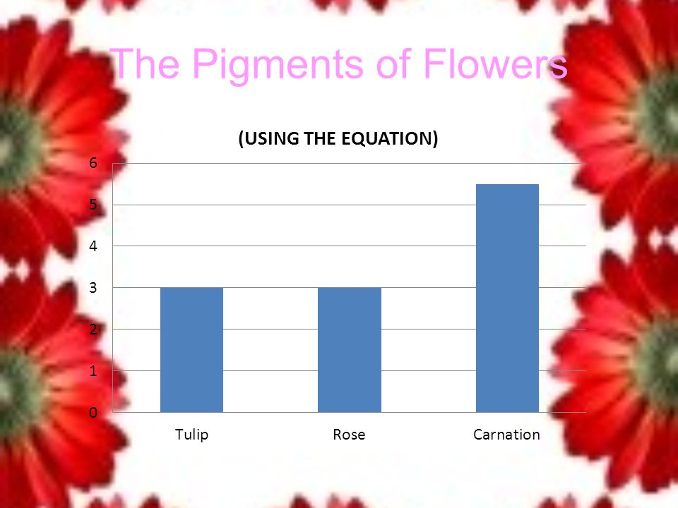 The Pigments of Flowers