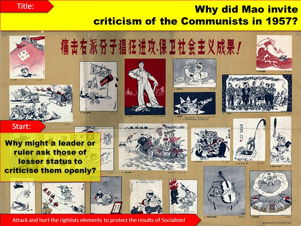 criticism of the Communists in 1957