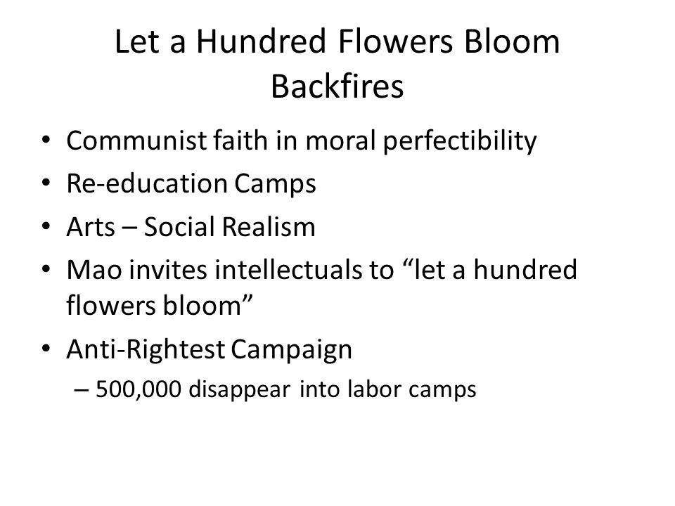 Let a Hundred Flowers Bloom Backfires