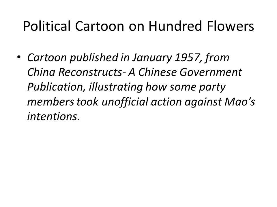 Political Cartoon on Hundred Flowers