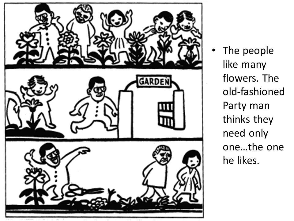 The people like many flowers