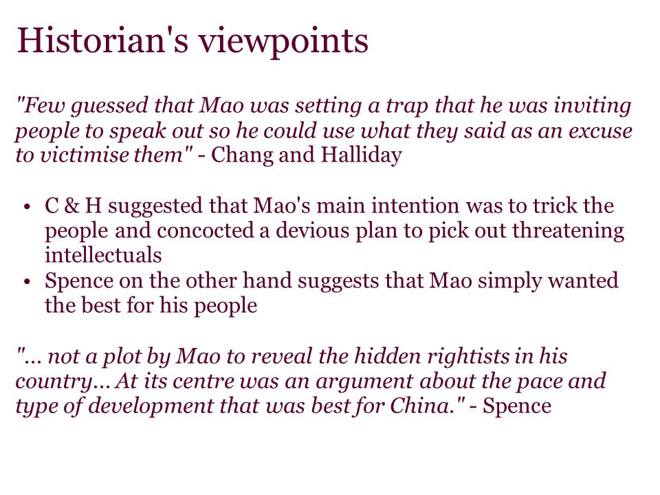 Historian s viewpoints