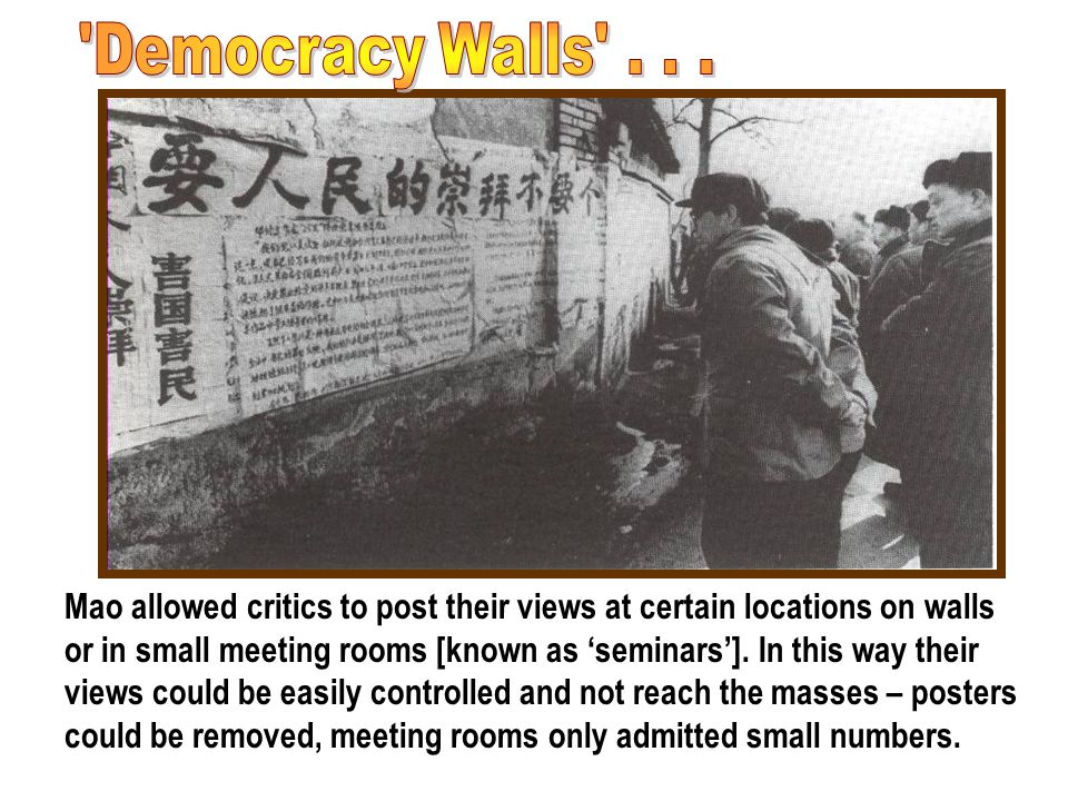 Democracy Walls . . .