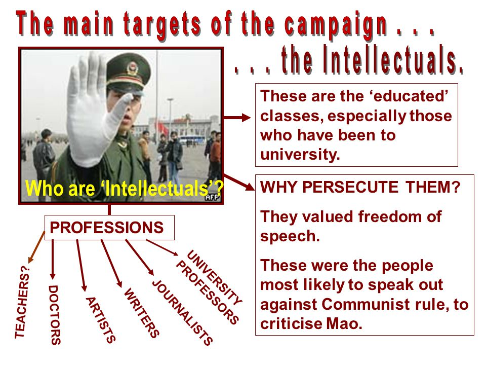 The main targets of the campaign . . .