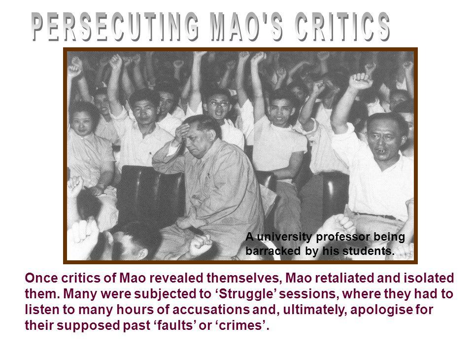 PERSECUTING MAO S CRITICS
