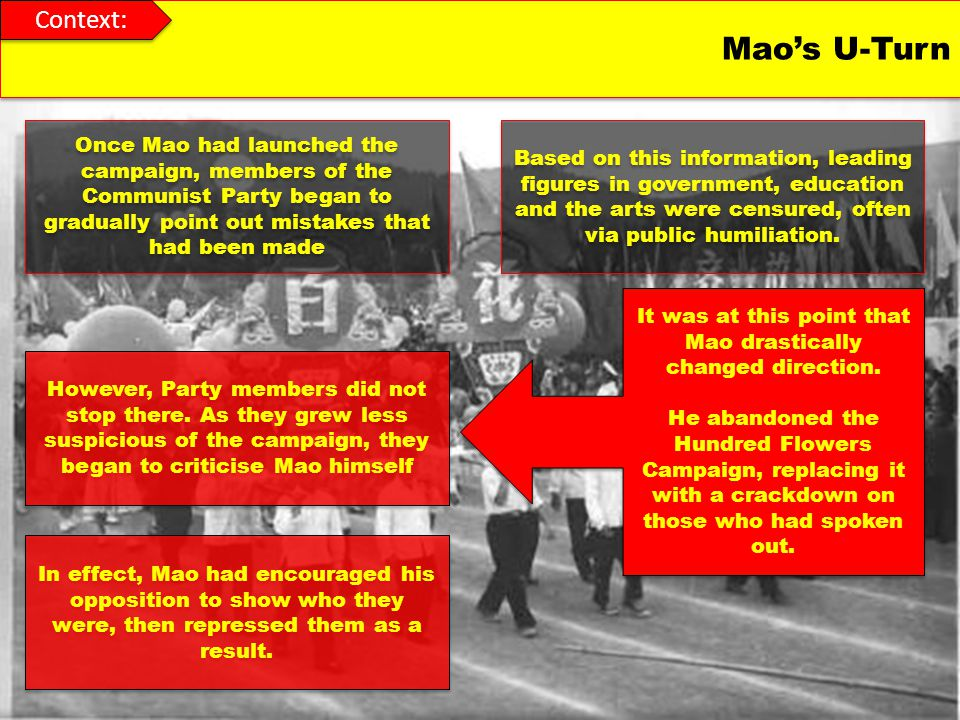 It was at this point that Mao drastically changed direction.