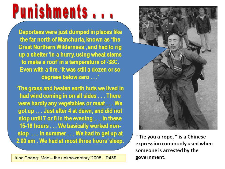 Punishments . . .