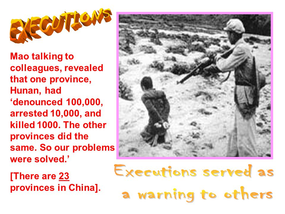 EXECUTIONS Executions served as a warning to others