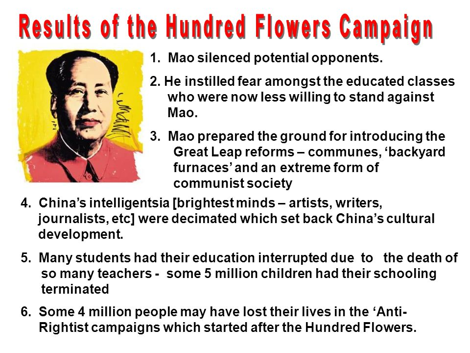 Results of the Hundred Flowers Campaign