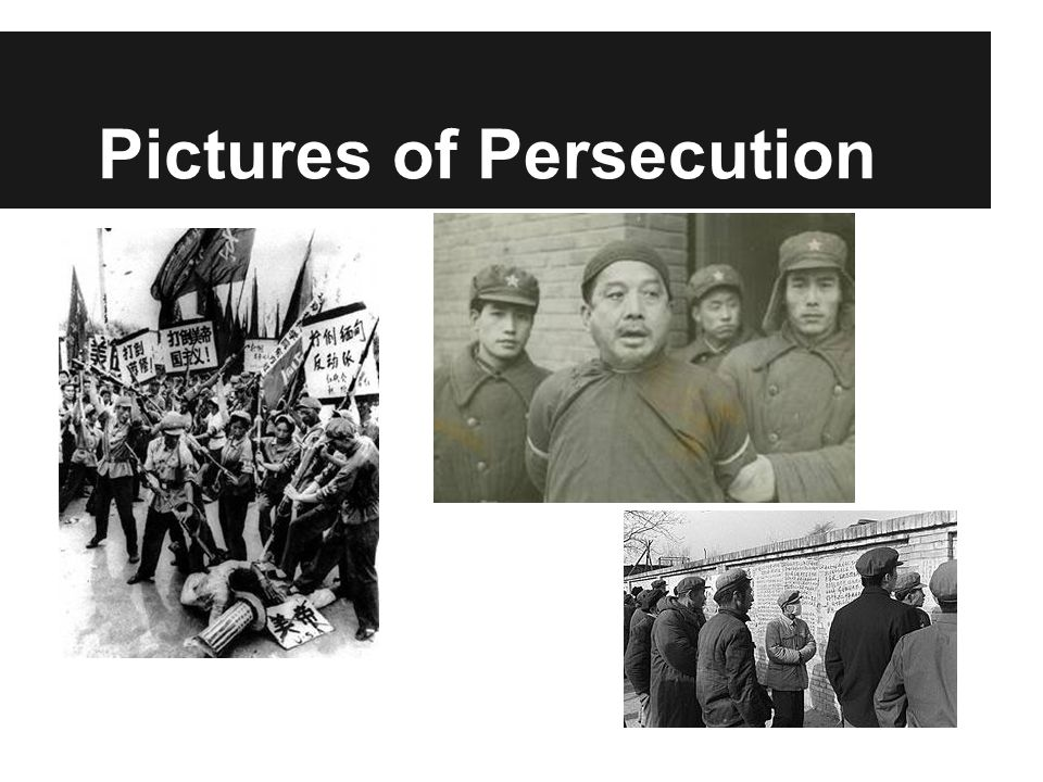 Pictures of Persecution