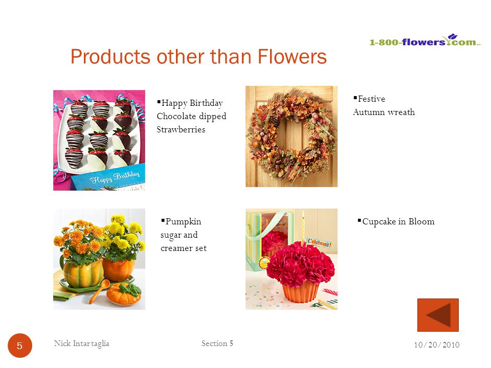 Products other than Flowers