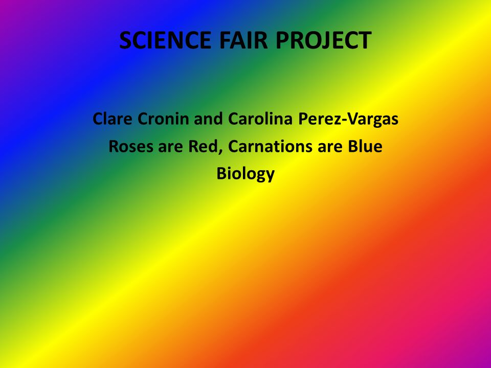 Science Fair Project Clare Cronin and Carolina Perez-Vargas