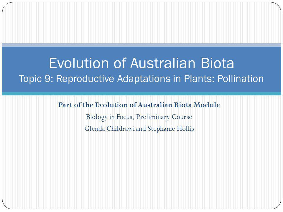 Part of the Evolution of Australian Biota Module