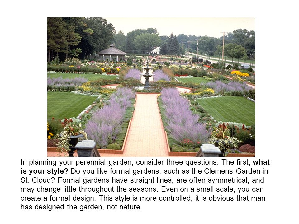 In planning your perennial garden, consider three questions