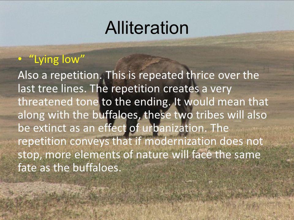 Alliteration Lying low