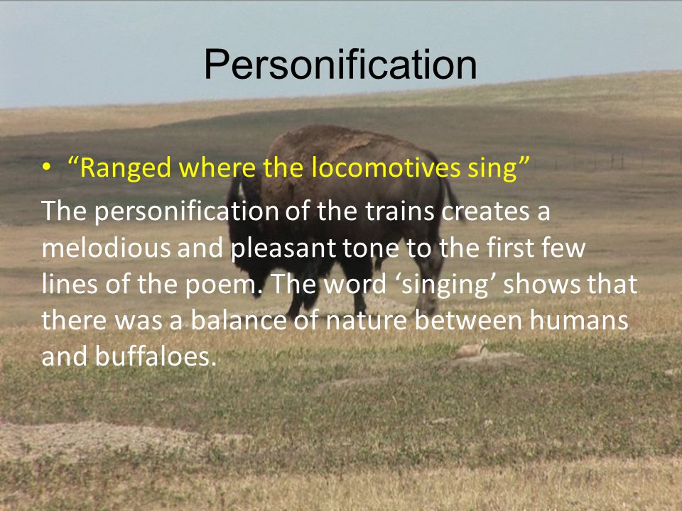 Personification Ranged where the locomotives sing
