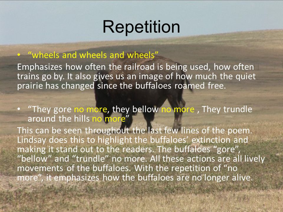 Repetition wheels and wheels and wheels