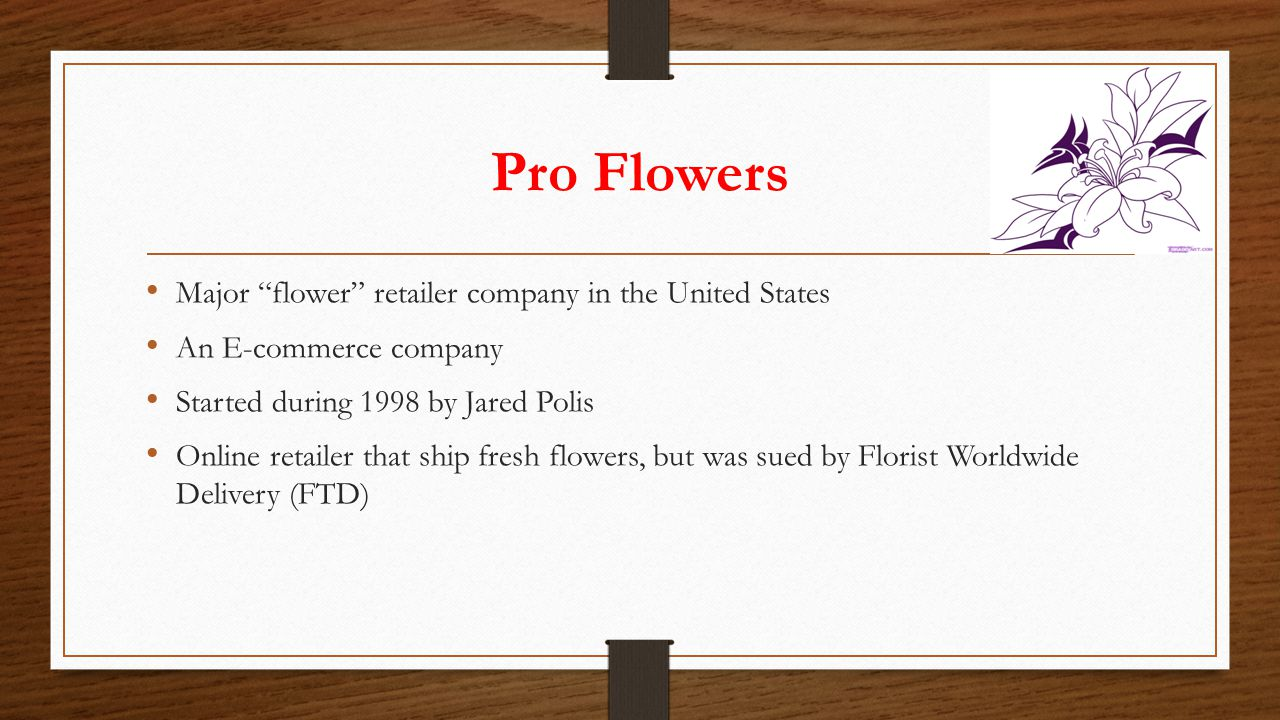 Pro Flowers Major flower retailer company in the United States