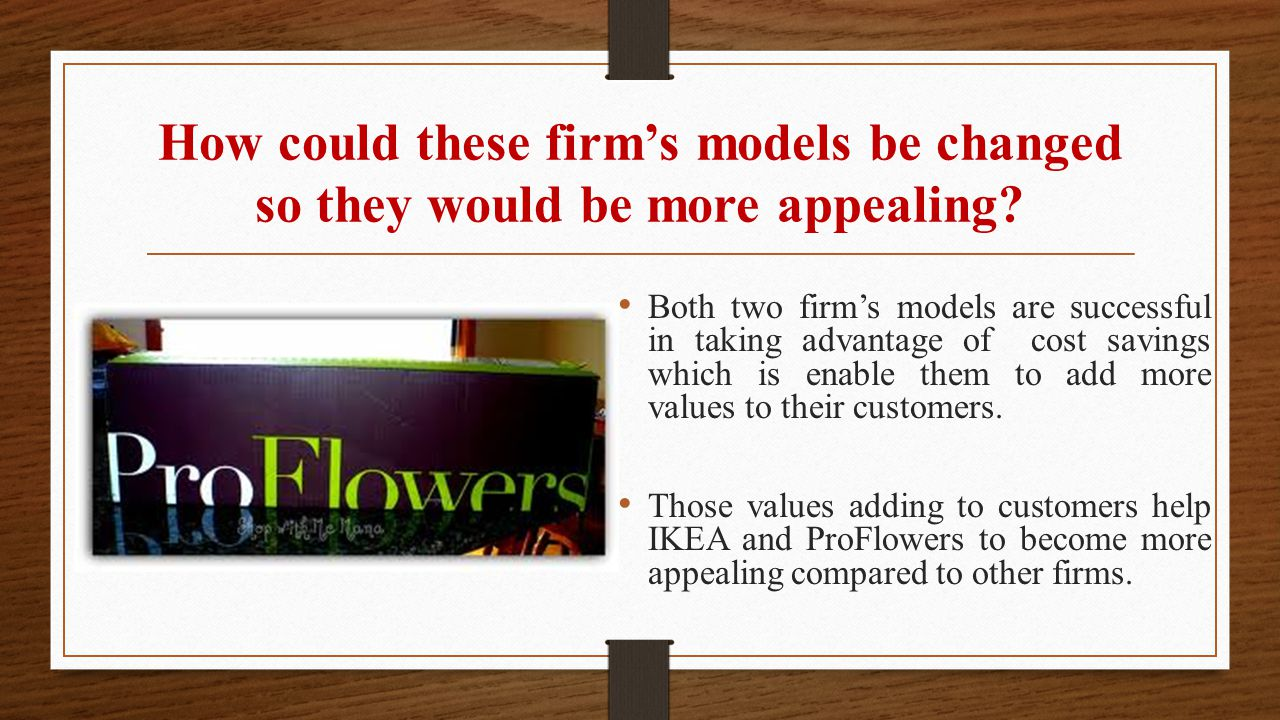 How could these firm's models be changed so they would be more appealing