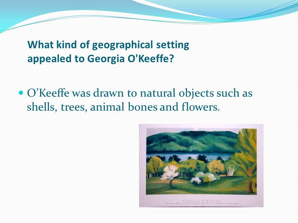 What kind of geographical setting appealed to Georgia O Keeffe