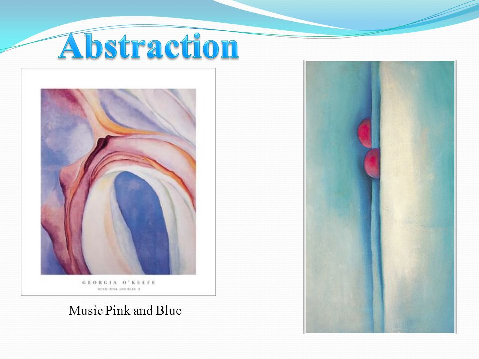 Abstraction Music Pink and Blue