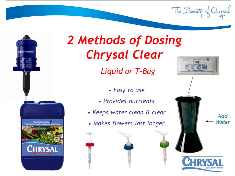 2 Methods of Dosing Chrysal Clear