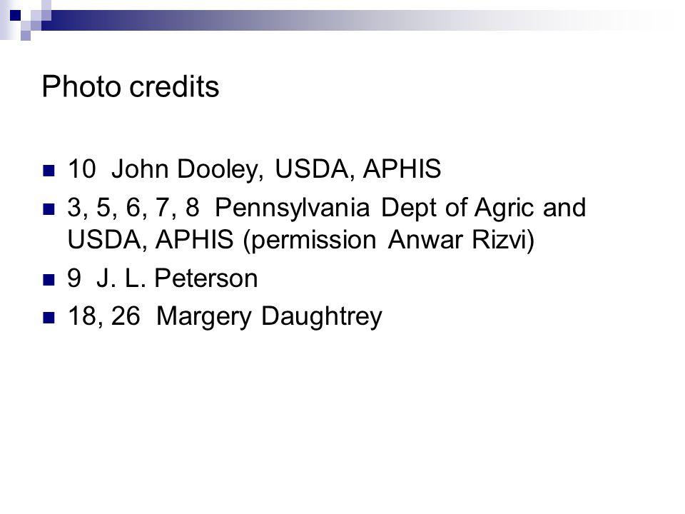 Photo credits 10 John Dooley, USDA, APHIS