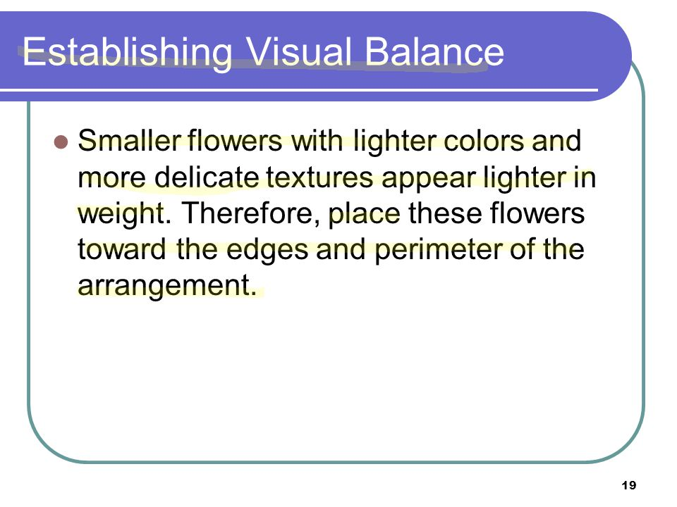 Establishing Visual Balance