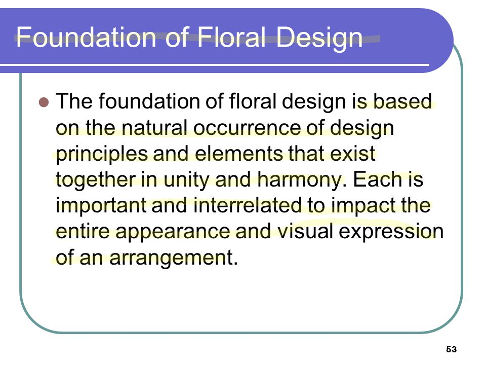 Foundation of Floral Design