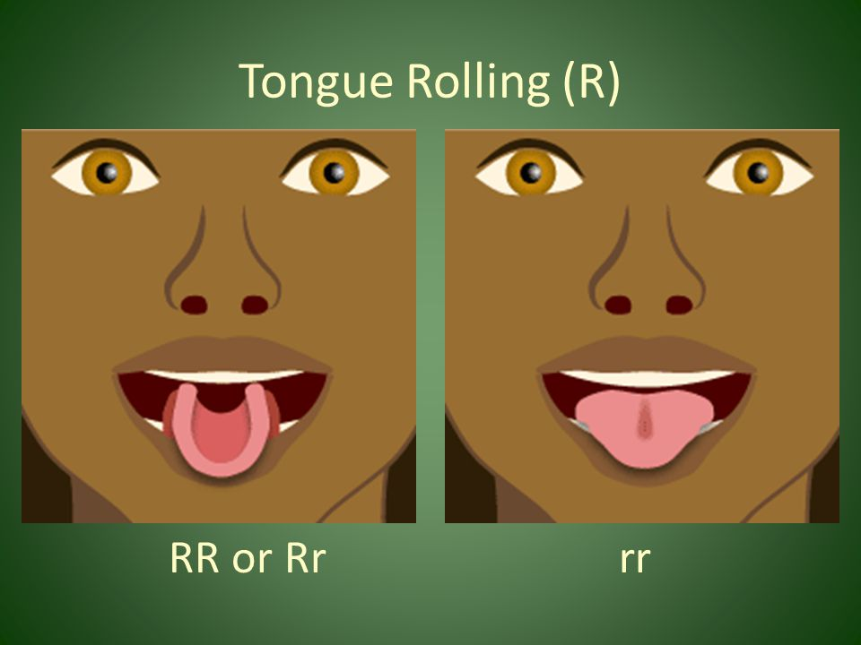 Tongue Rolling (R) RR or Rr rr