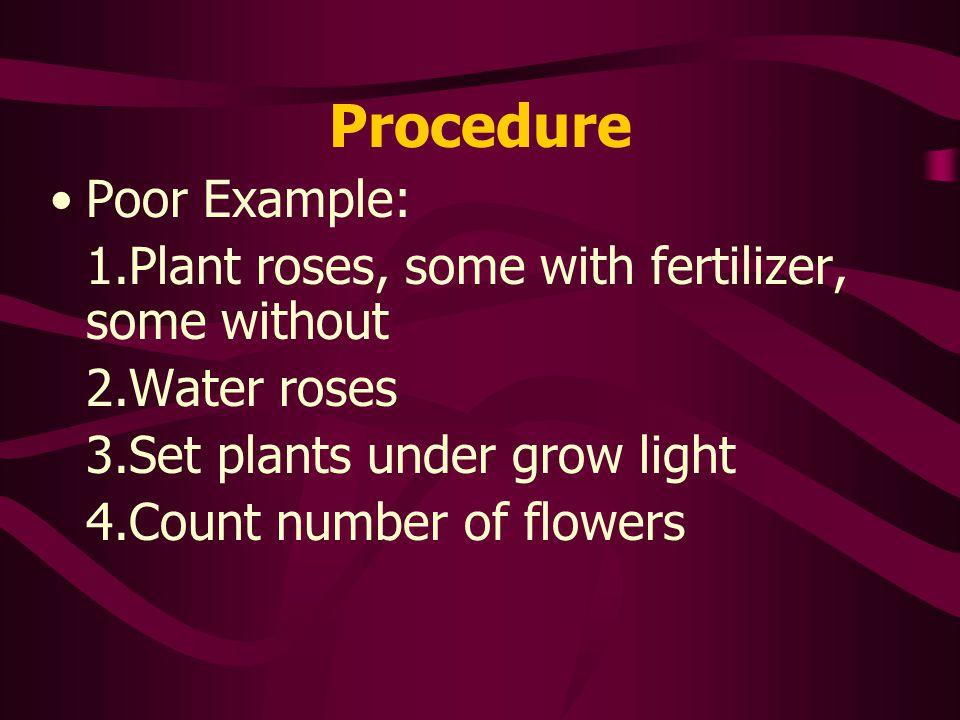 Procedure Poor Example: