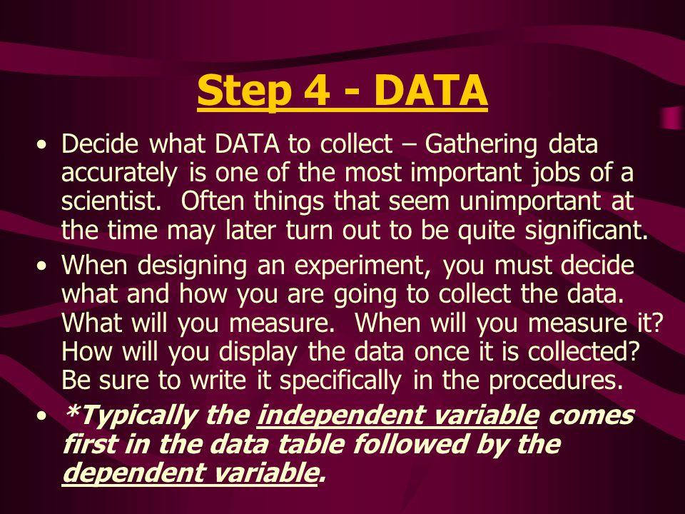 Step 4 - DATA