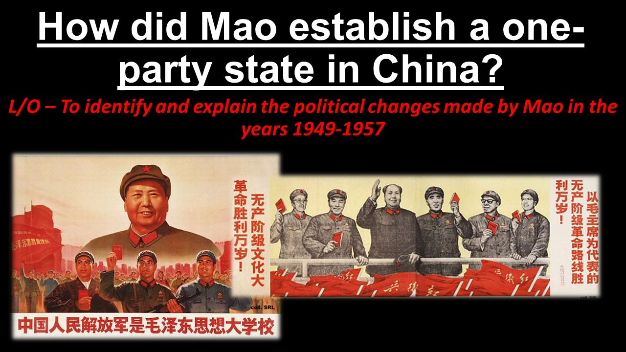 How did Mao establish a one-party state in China