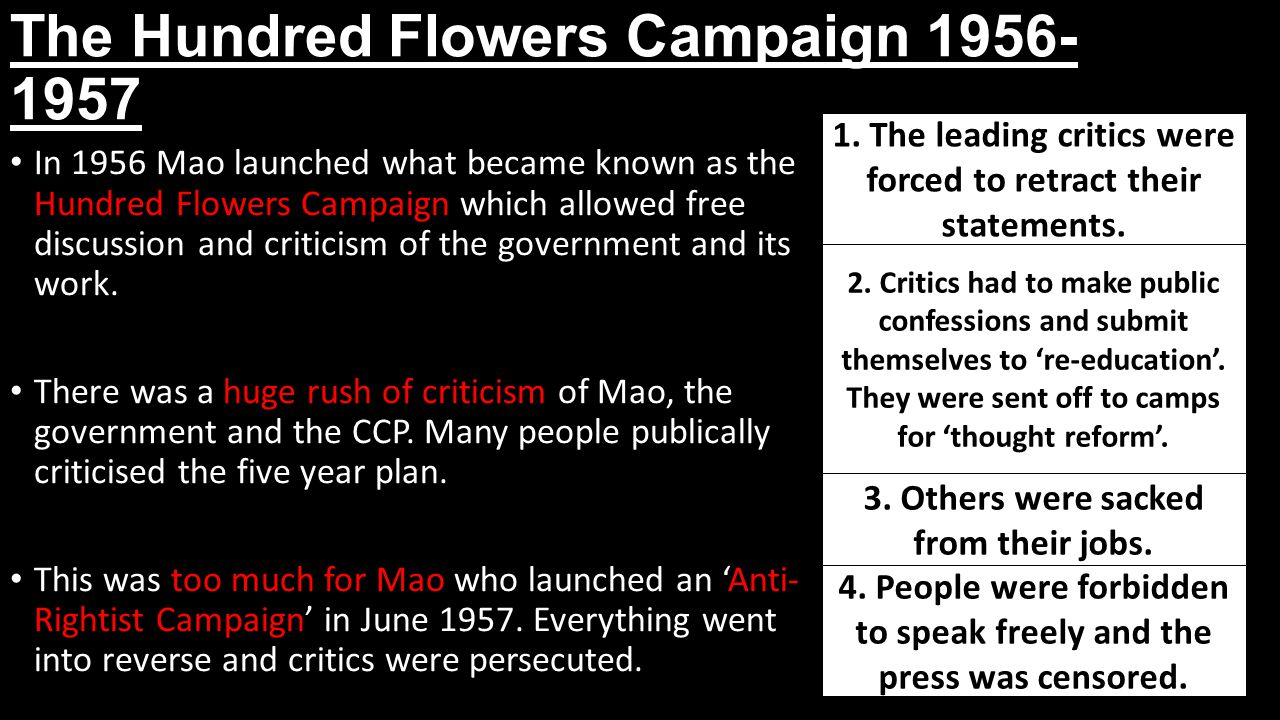 The Hundred Flowers Campaign 1956-1957