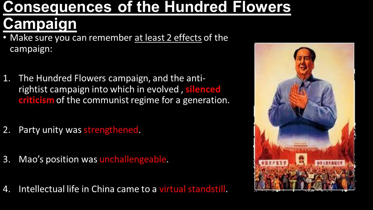 Consequences of the Hundred Flowers Campaign