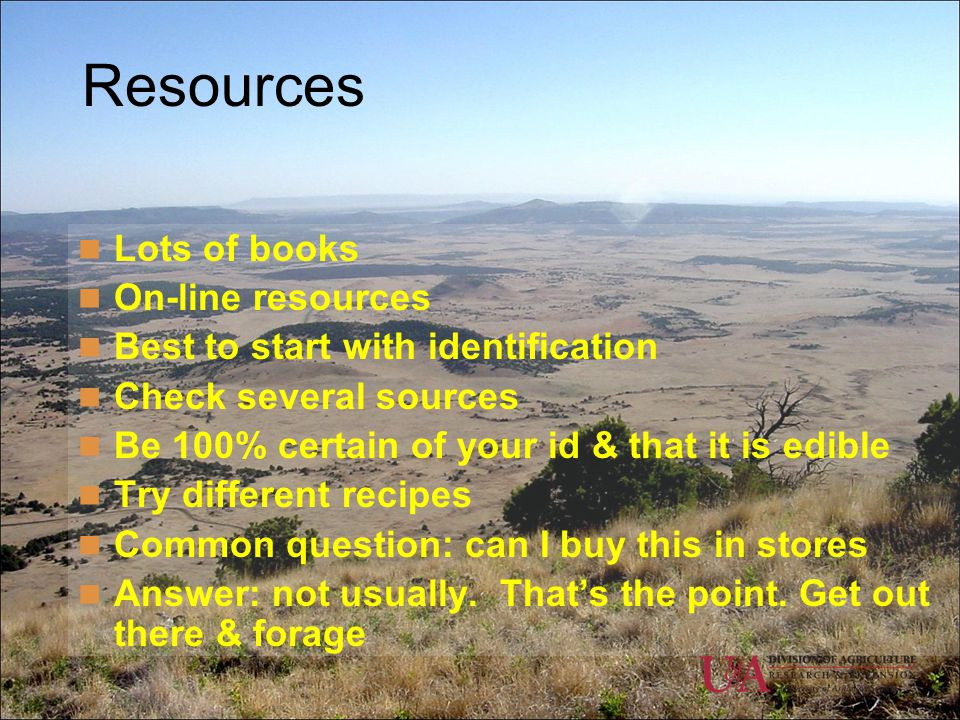 Resources Lots of books On-line resources