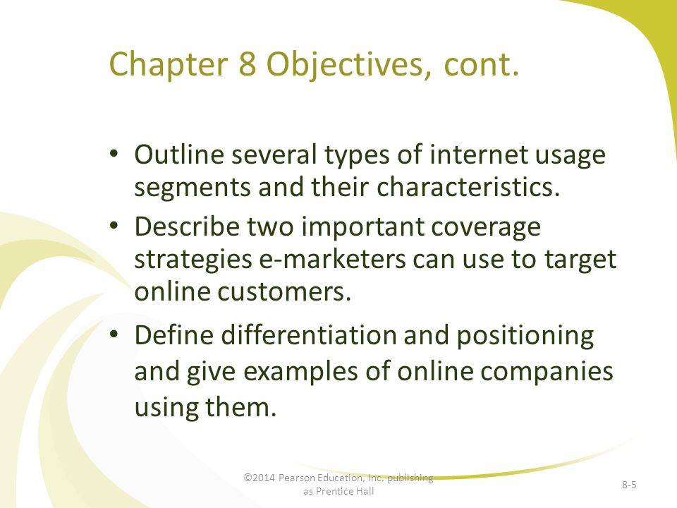Chapter 8 Objectives, cont.