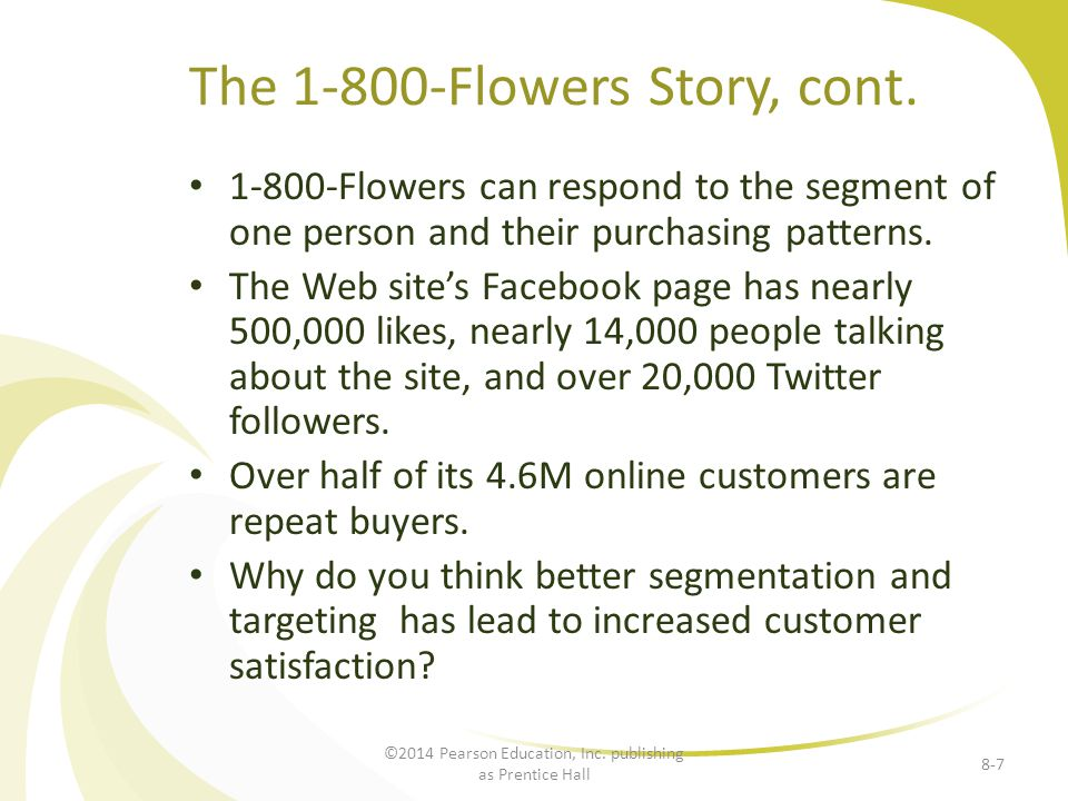 The 1-800-Flowers Story, cont.