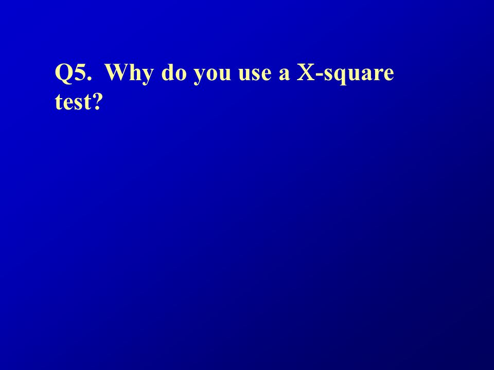 Q5. Why do you use a C-square test