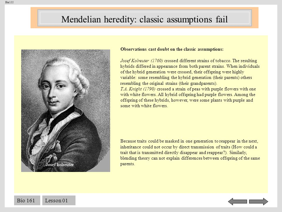 Mendelian heredity: classic assumptions fail