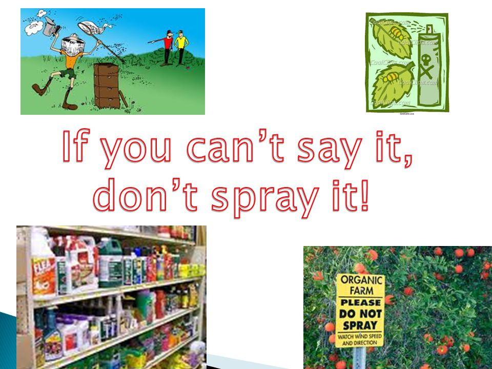 If you can't say it, don't spray it!