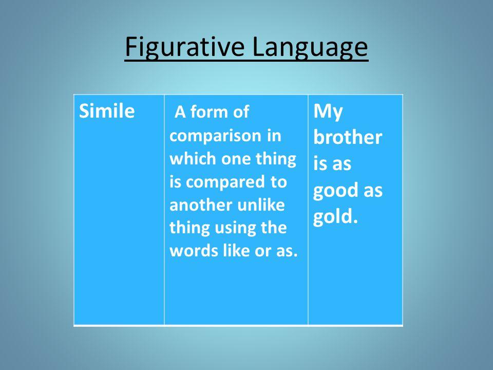 Figurative Language Simile