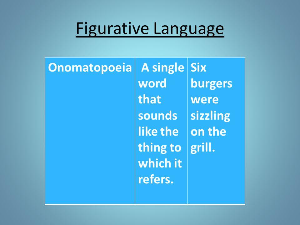 Figurative Language Onomatopoeia