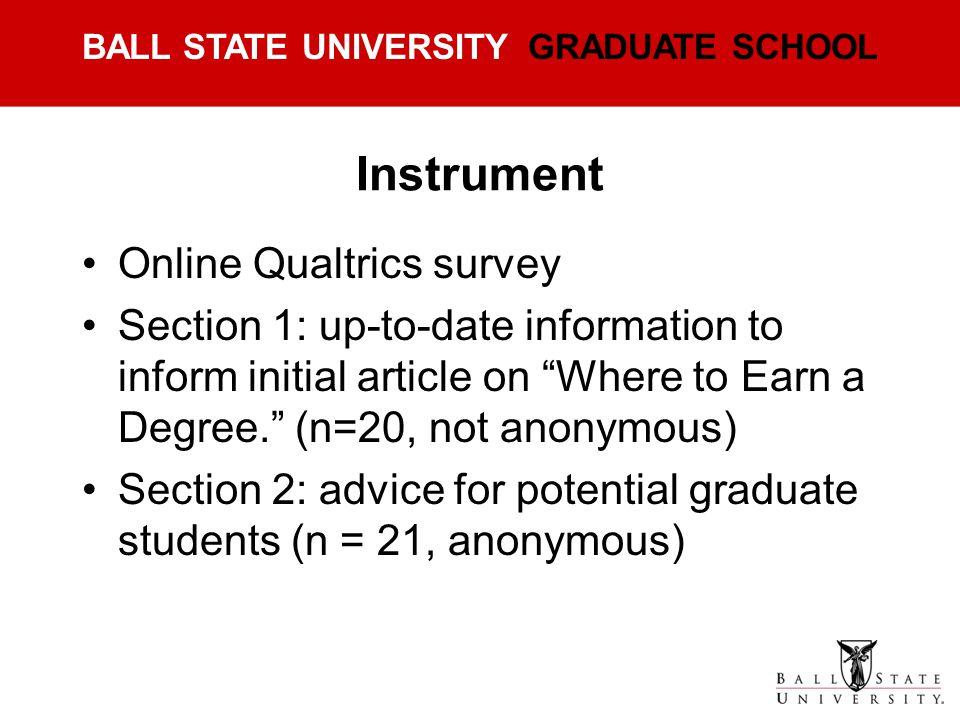 Instrument Online Qualtrics survey