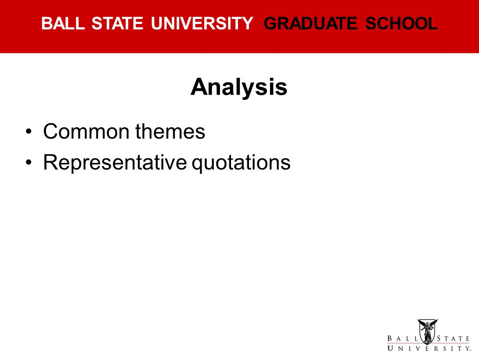 Analysis Common themes Representative quotations