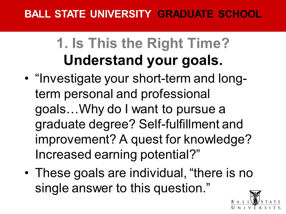 1. Is This the Right Time Understand your goals.